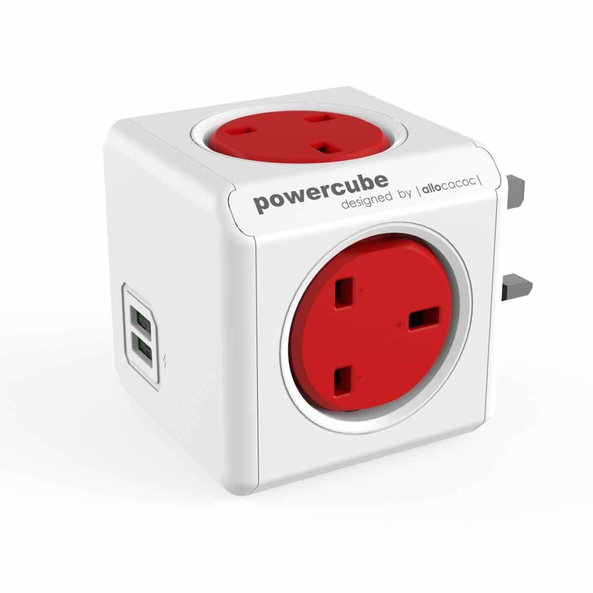 Powercube Original USB Plug Red