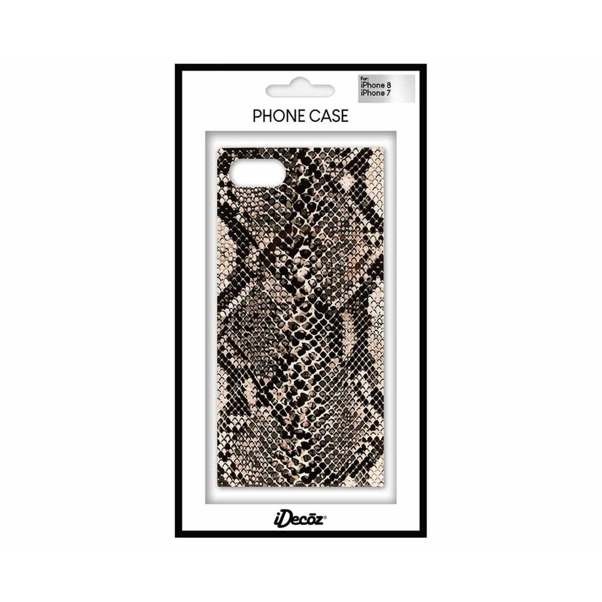 iDecoz iPhone 7/8 Protective Case Snake Print