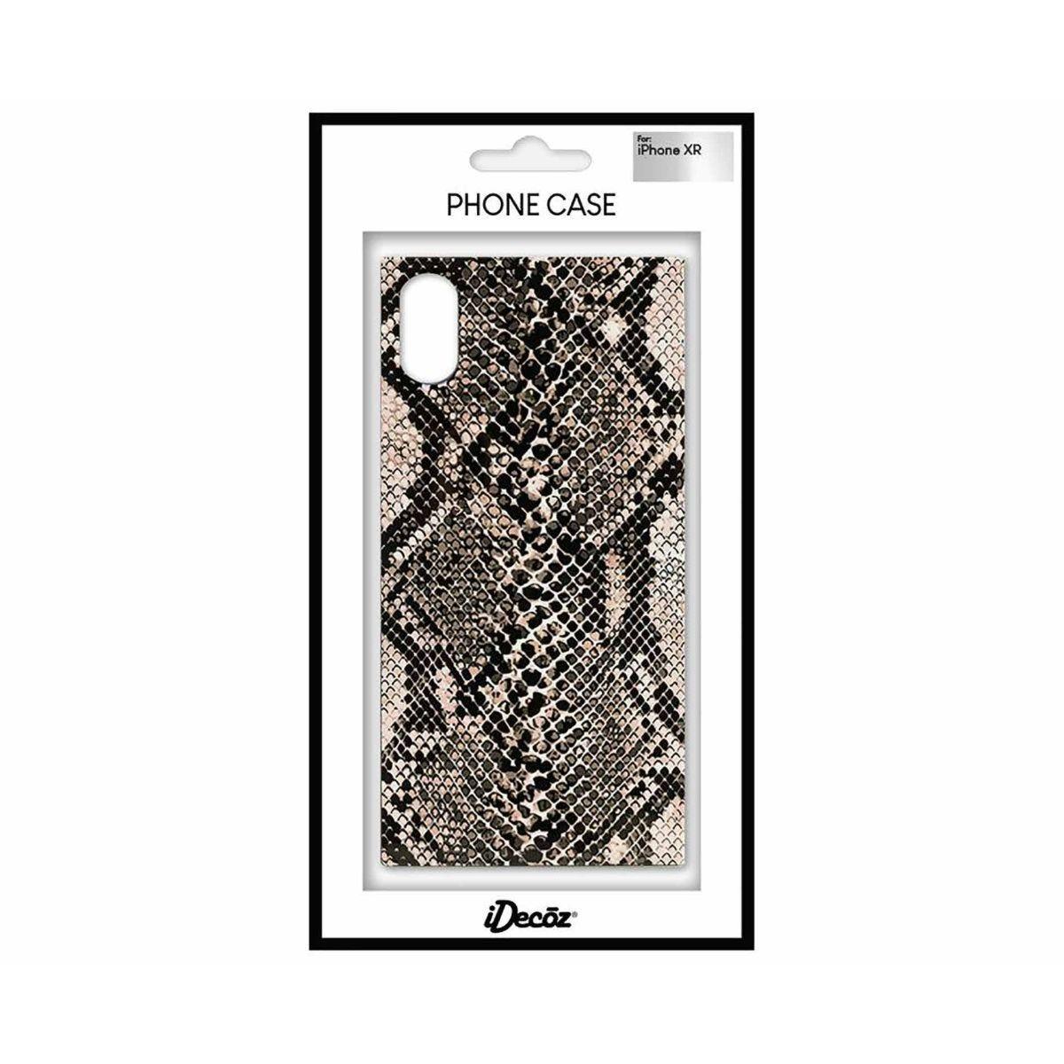 iDecoz iPhone XR Protective Case Snake Print