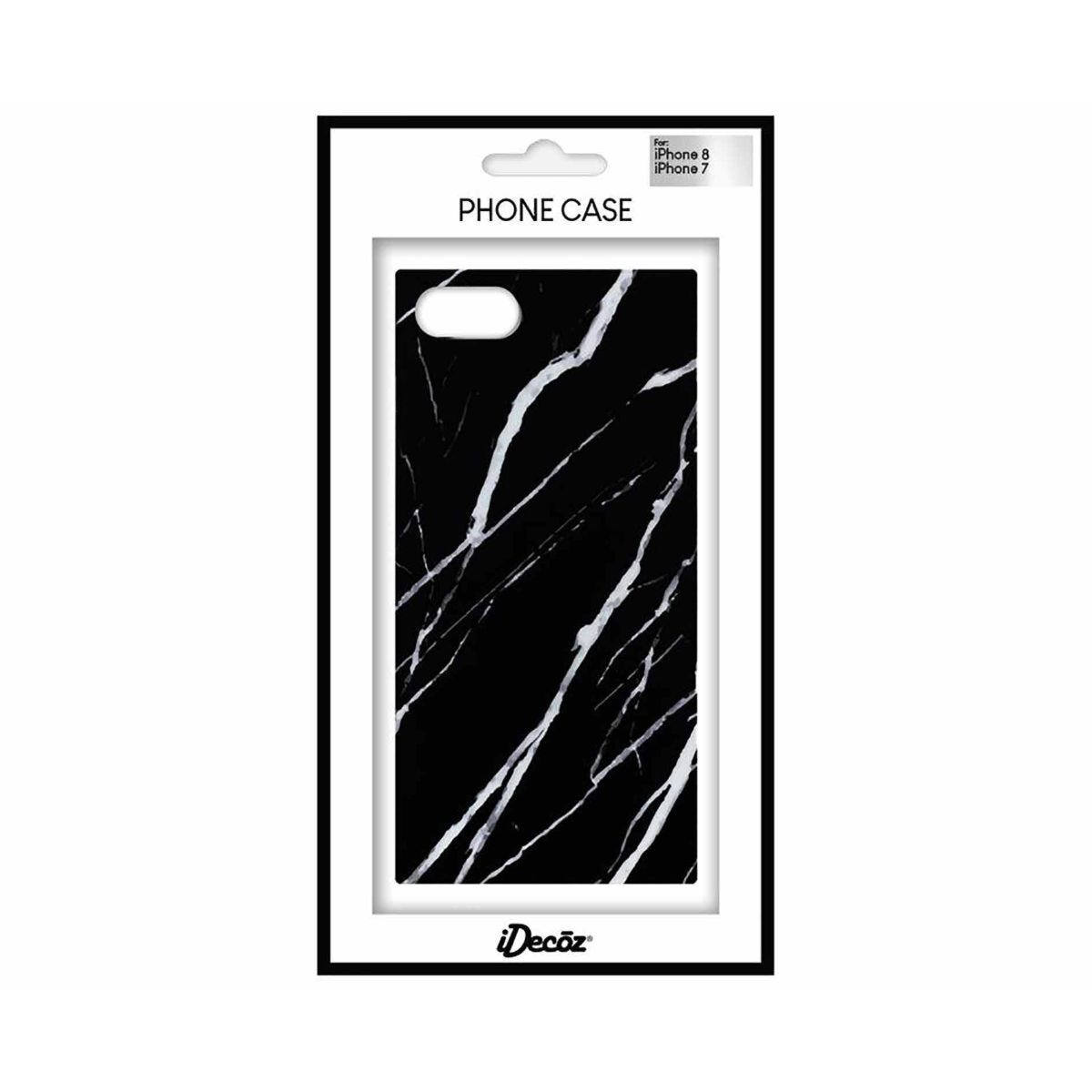 iDecoz iPhone 7/8 	Protective Case Black Marble