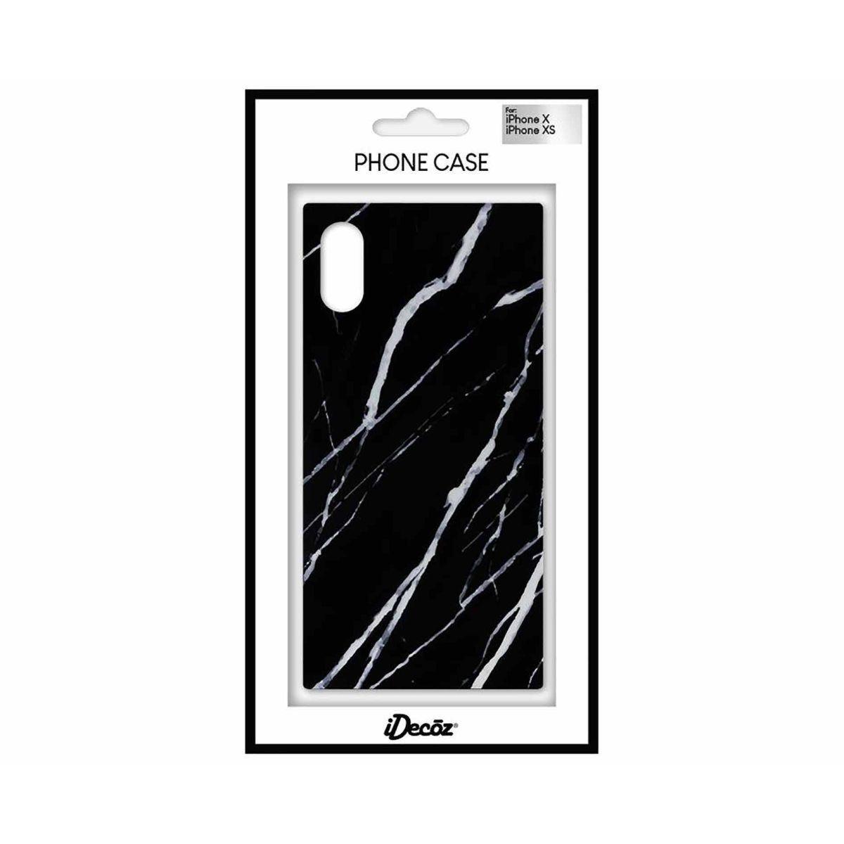 iDecoz iPhone X/XS Protective Case Black Marble