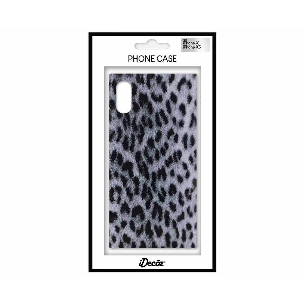 iDecoz iPhone X/XS Protective Case Leopard Print