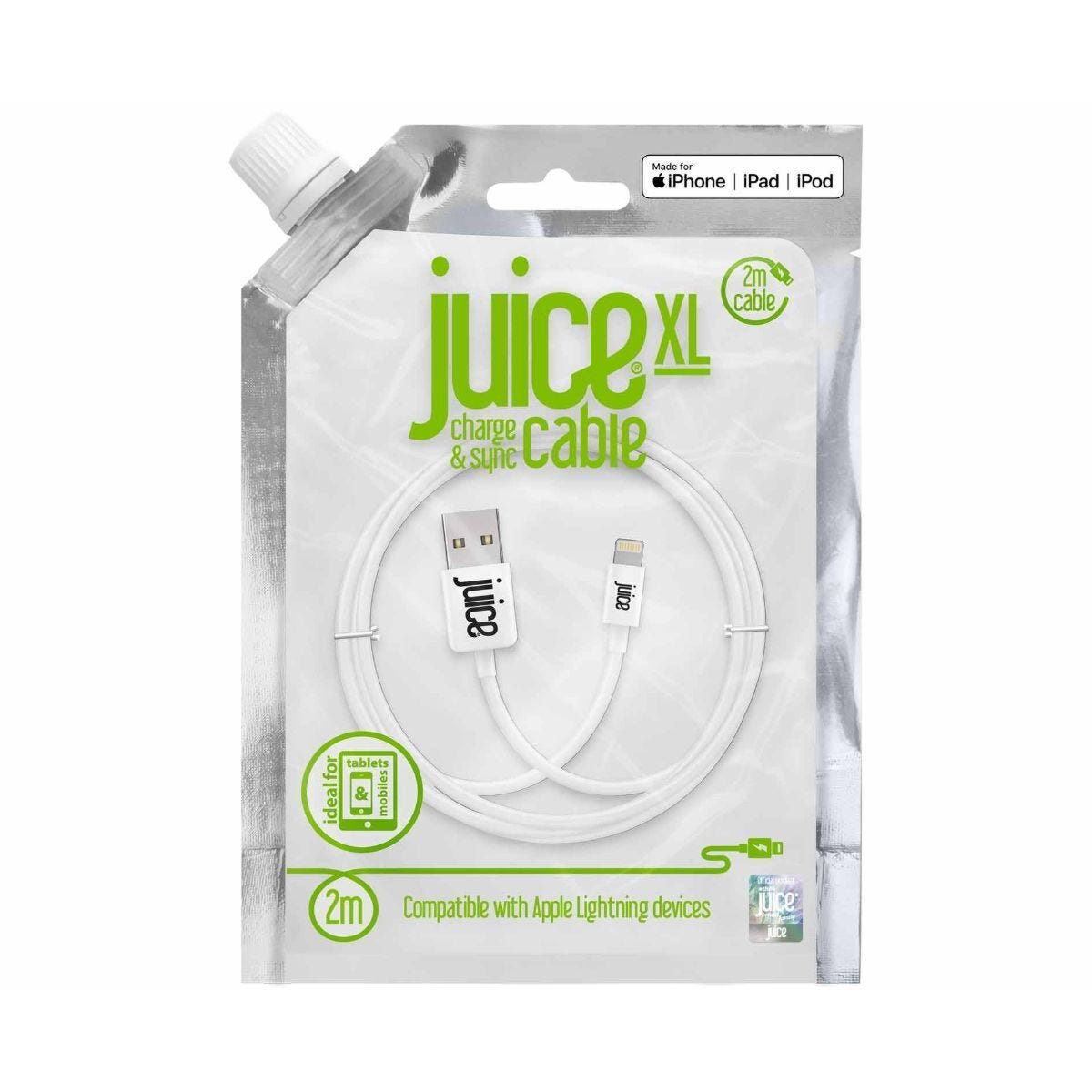 Juice Lightning to USB Cable 2m White