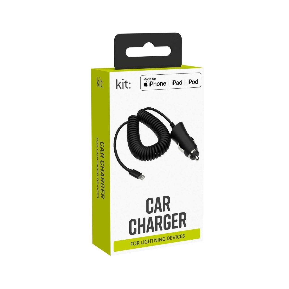 Kit In-Car iPhone Lightning Charger 1M