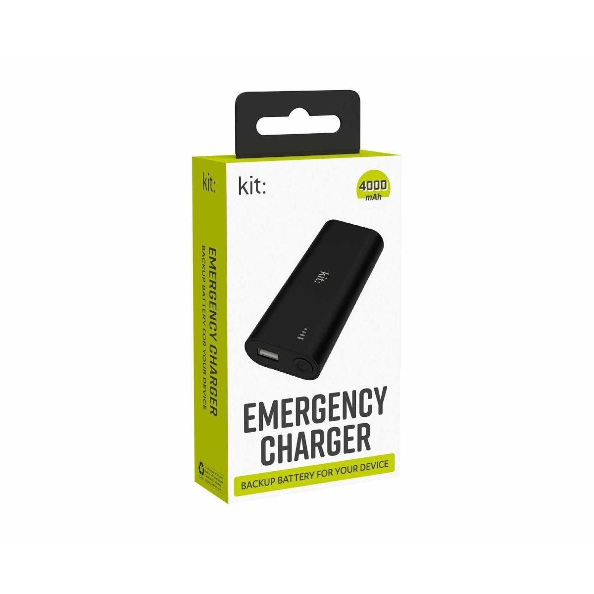 Kit Emergency Charger 4000mAh