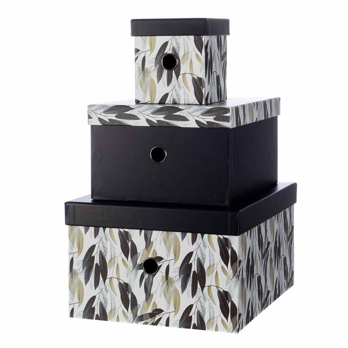 Ryman Storage Boxes Floral Design Set of 3