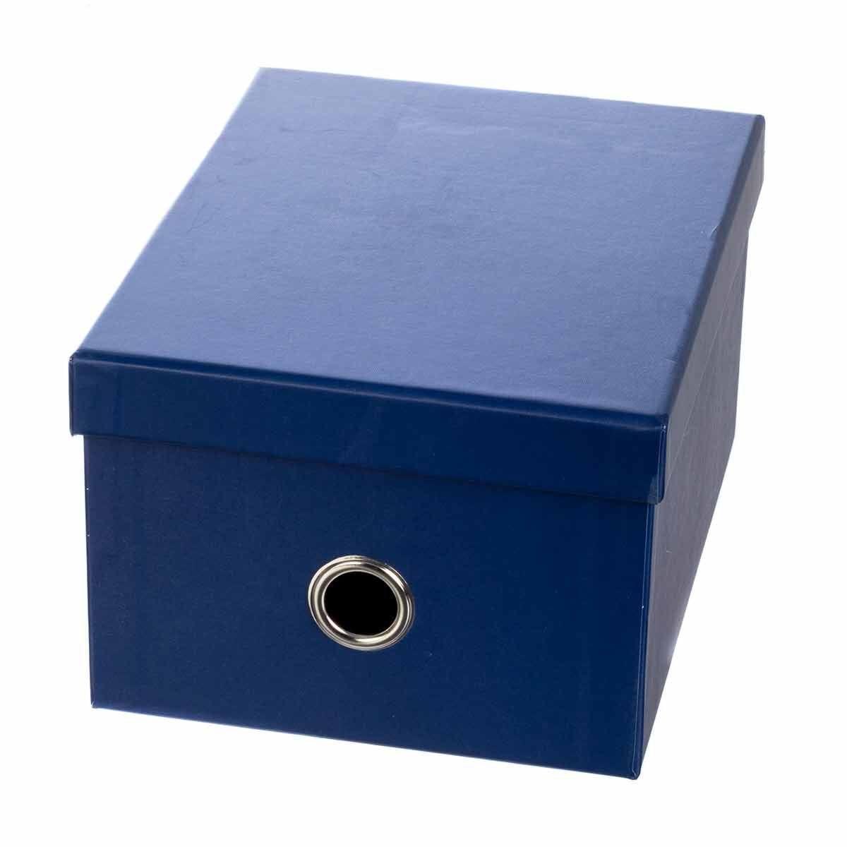 Ryman Storage Box Medium Navy Blue