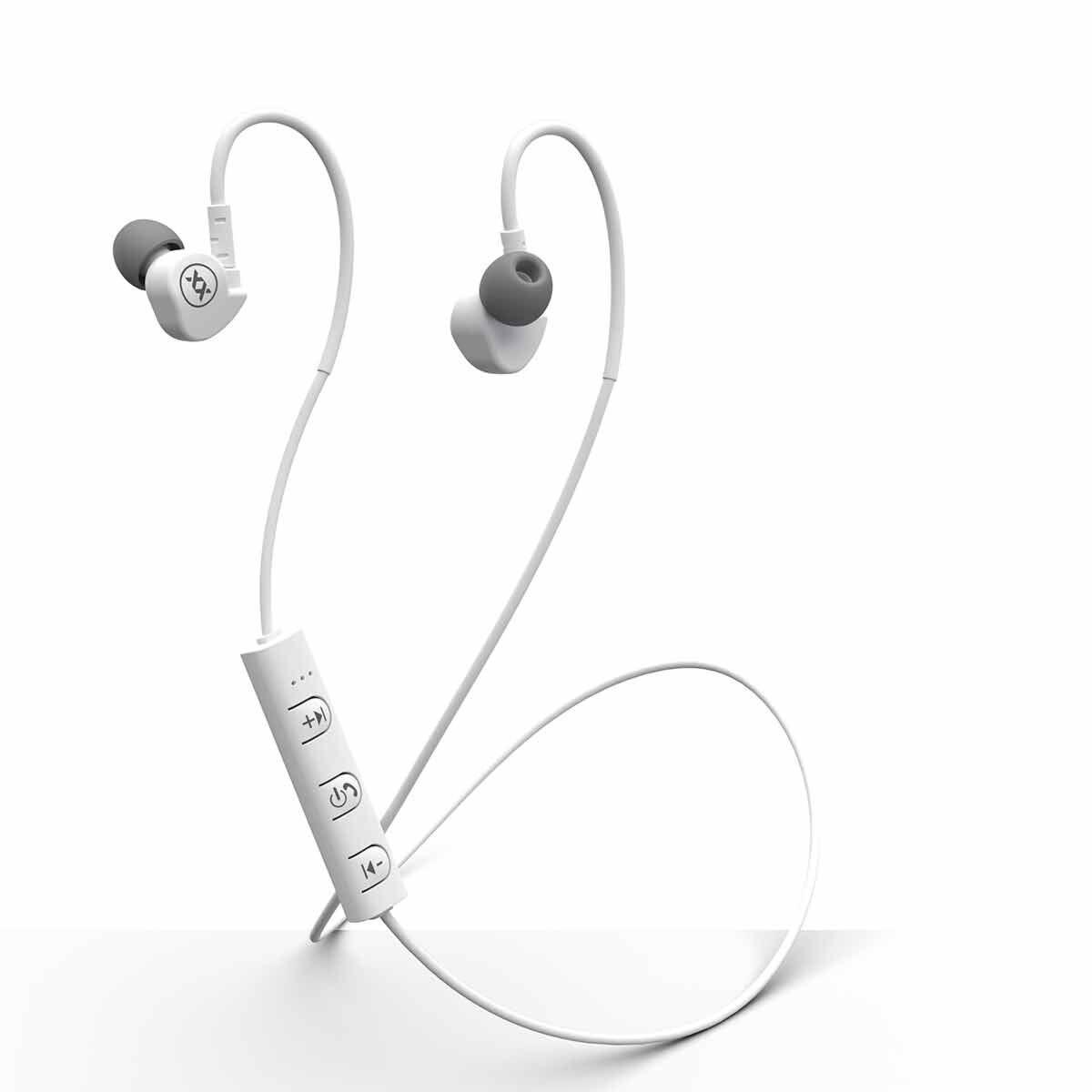 MIXX Audio Memory Fit Wireless Sports Earphones White