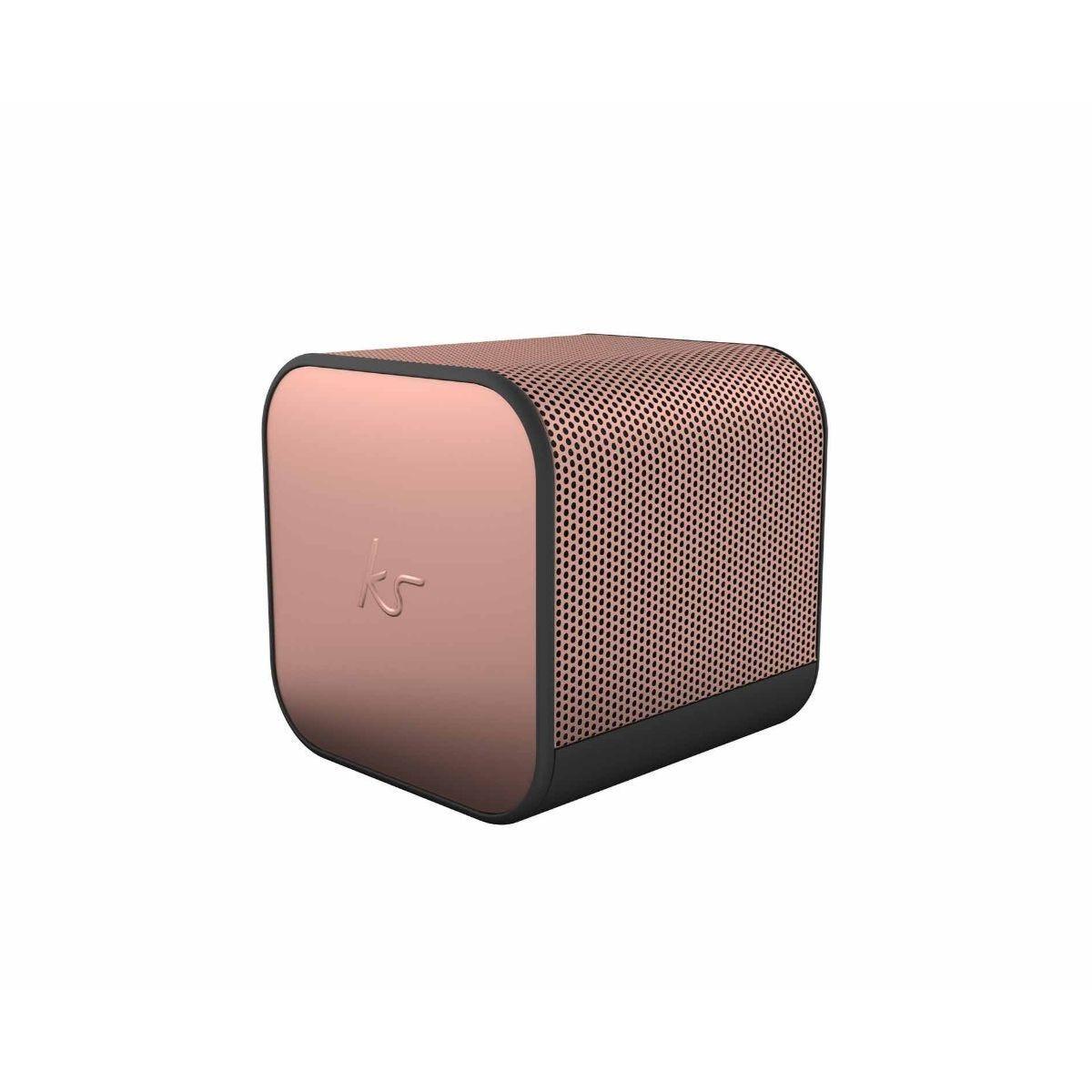 KitSound BoomCube Portable Bluetooth Speaker Rose Gold