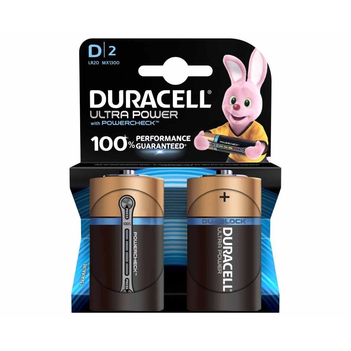 Duracell Ultra Power D Batteries Pack of 2