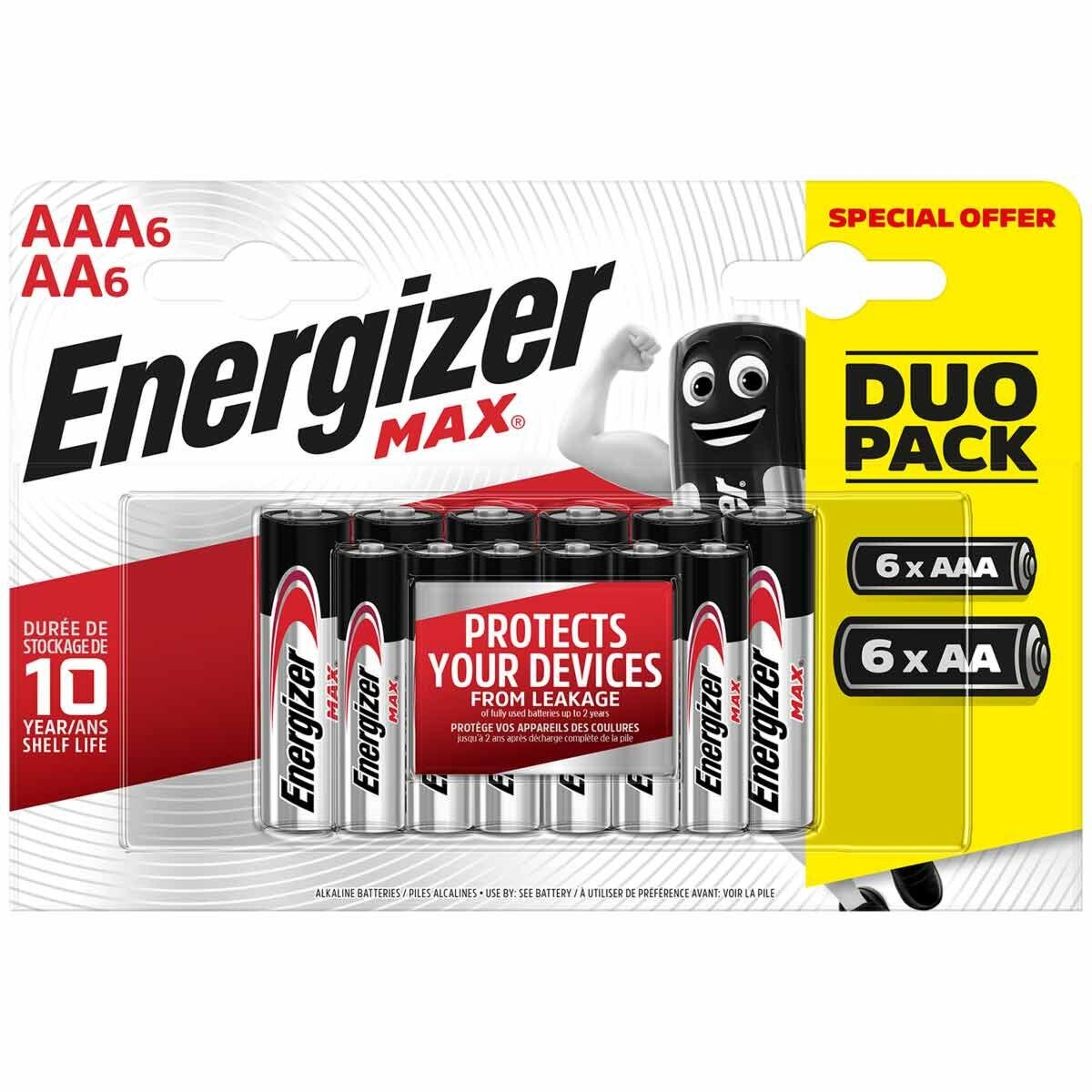 Energizer Max Alkaline AA and AAA Pack of 12