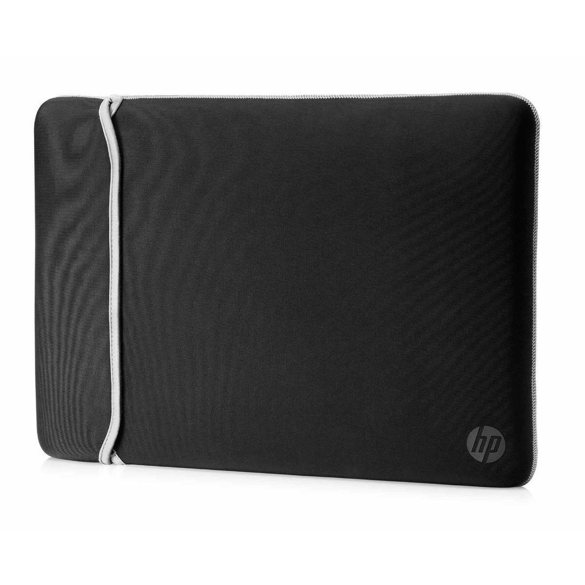 HP Neoprene 14 Inch Reversible Laptop Sleeve - Black and Silver