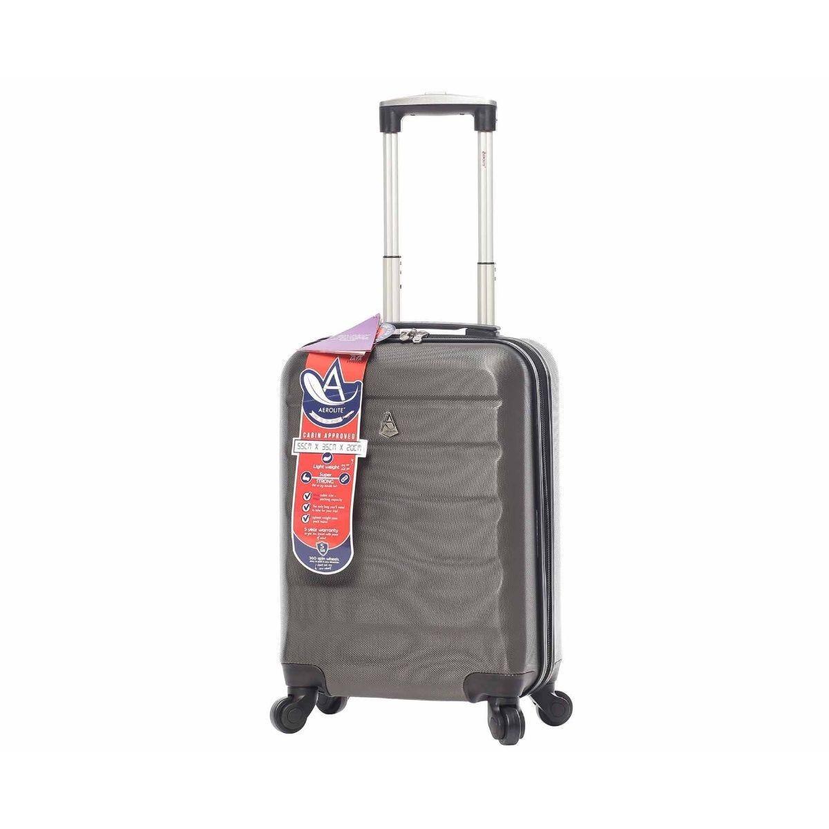 Aerolite Hardshell Cabin Luggage Case Charcoal