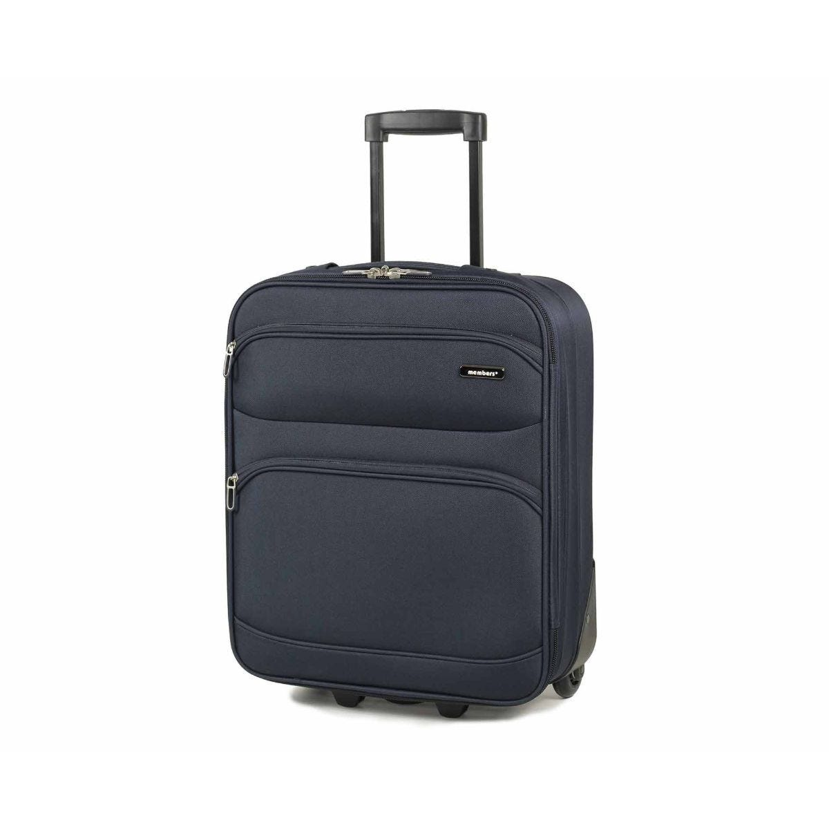 Members by Rock Topaz Carry-on Lightweight Two Wheel Trolley Suitcase 55cm Navy