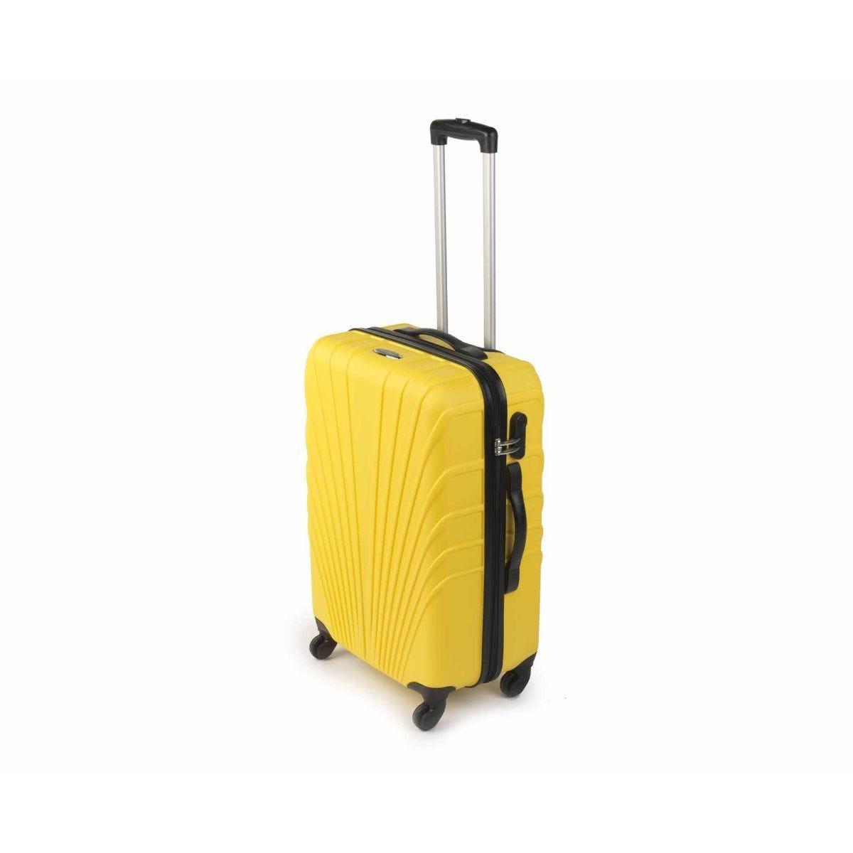Constellation Medium 24 inch Arc ABS Suitcase Yellow