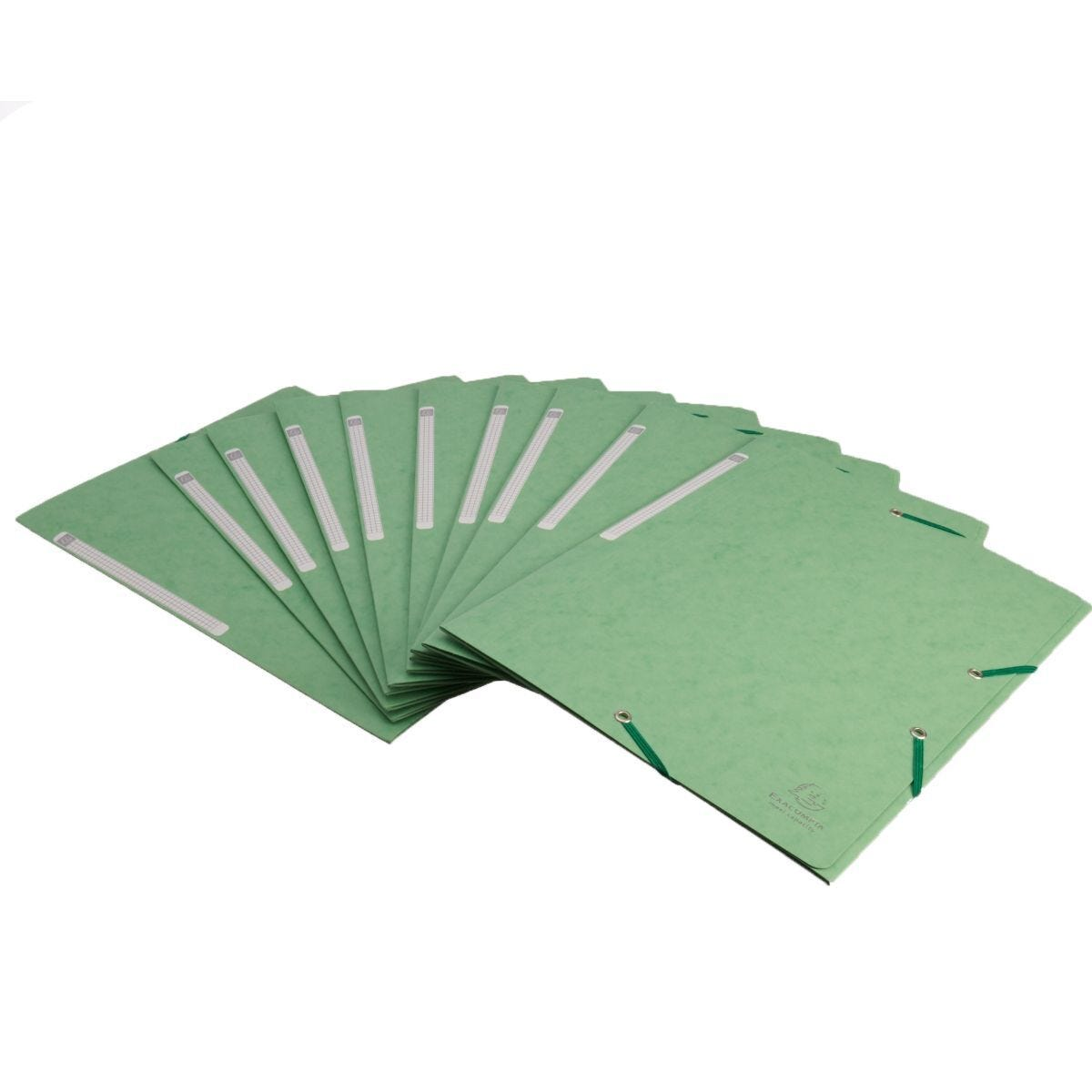 Exacompta Portfolio Folder A4 Elasticated Pack of 10 Lime