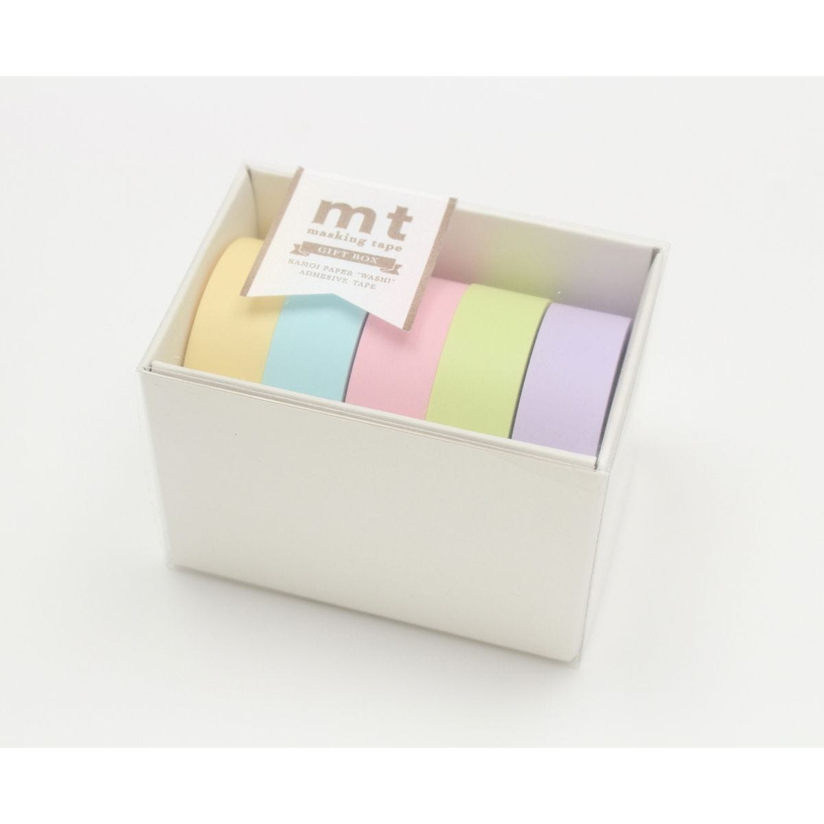 mt Washi Masking Tape Gift Box Pastel Pack of 5