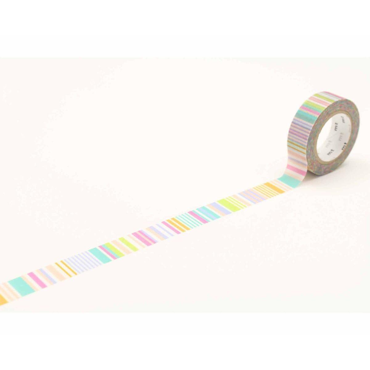 MT Washi Tape Stripe Pastel