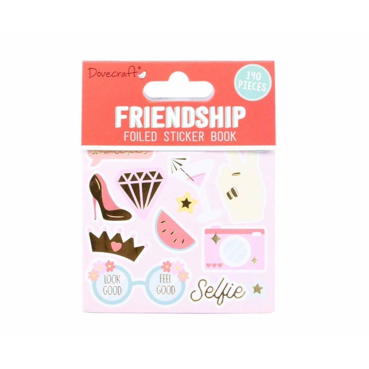 Dovecraft Friendship Foiled Sticker Book