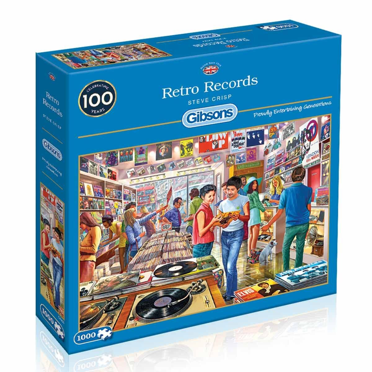 Gibsons Retro Records 1000 Piece Jigsaw Puzzle