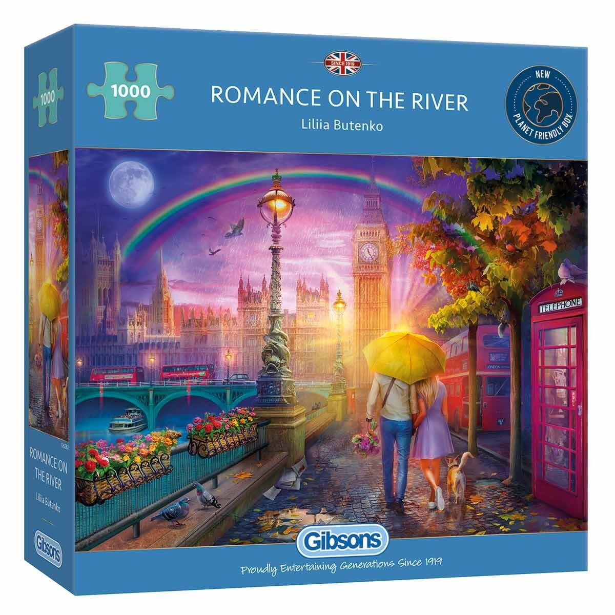 Gibsons Romance on the River 1000 Piece Jigsaw Puzzle