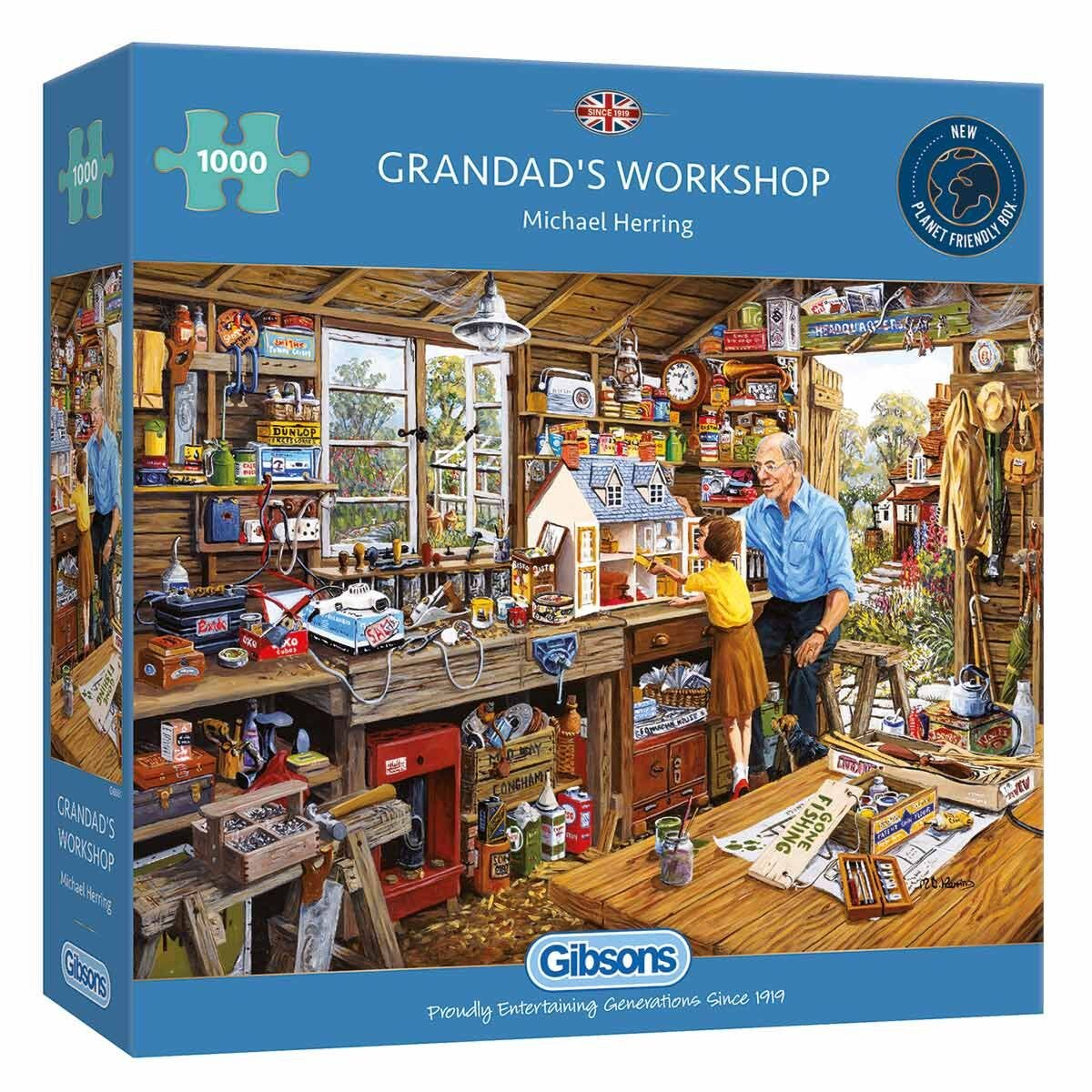 Gibsons Grandads Workshop 1000 Piece Jigsaw Puzzle