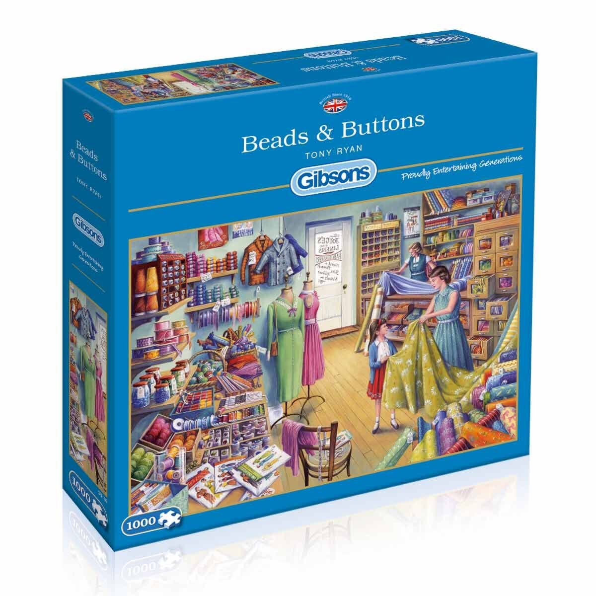 Gibsons Beads and Buttons Jigsaw Puzzle 1000 Piece