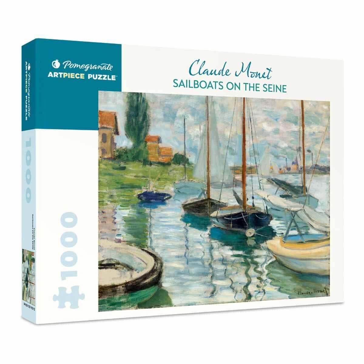 Claude Monet Sailboats on the Seine 1000 Piece Puzzle