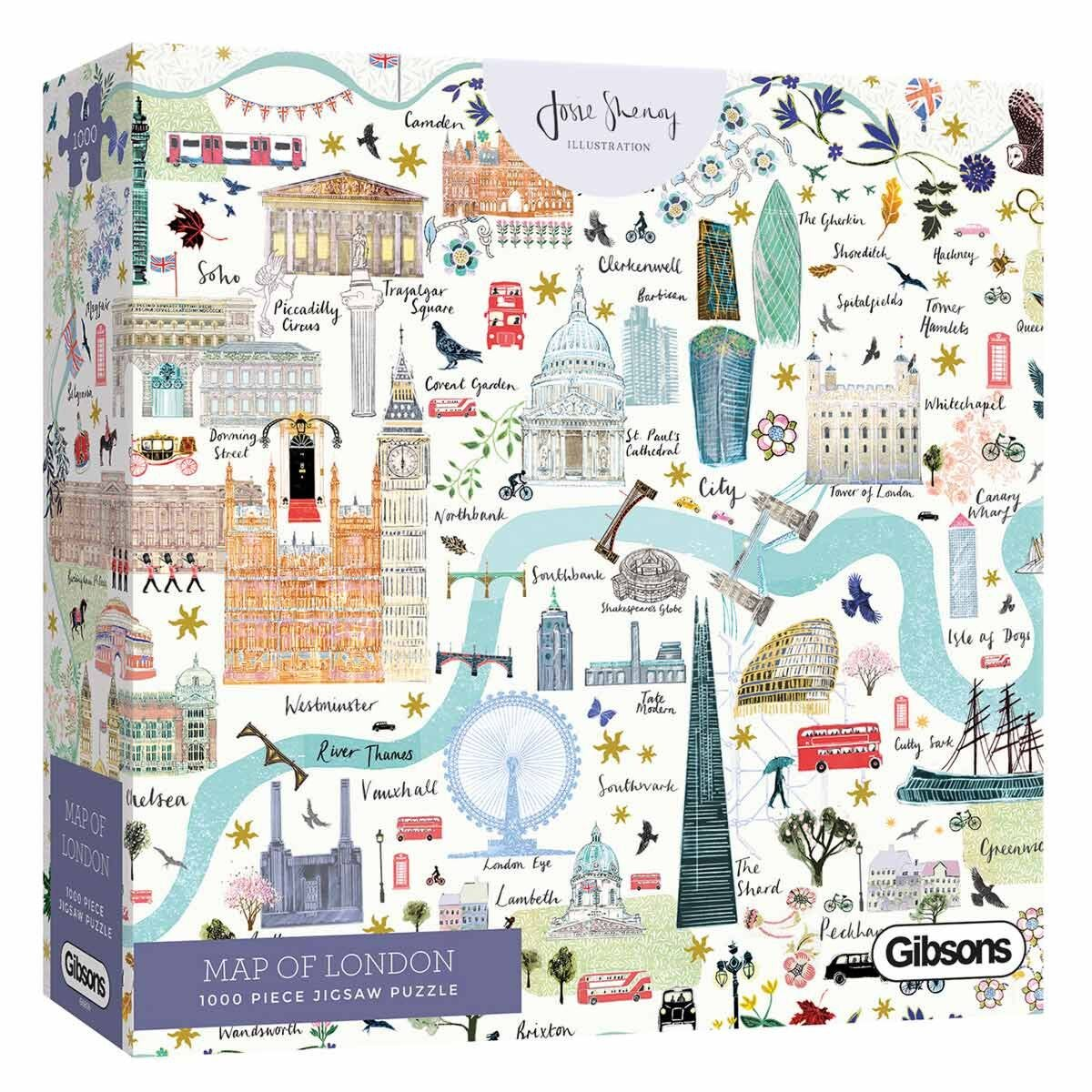 Gibsons Map of London 1000 Piece Jigsaw Puzzle