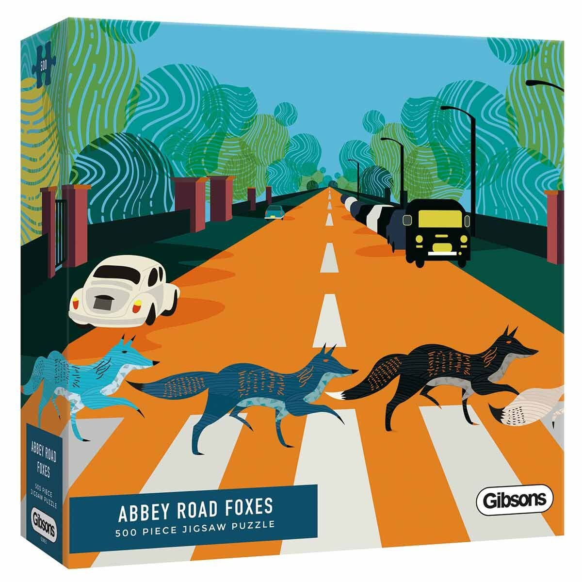 Gibsons Abbey Road Foxes 500 Piece Jigsaw Puzzle