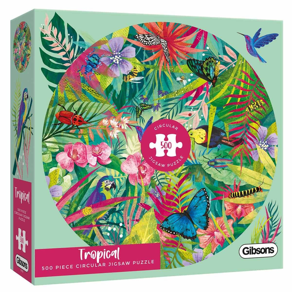 Gibsons Tropical Circular 500 Piece Jigsaw Puzzle
