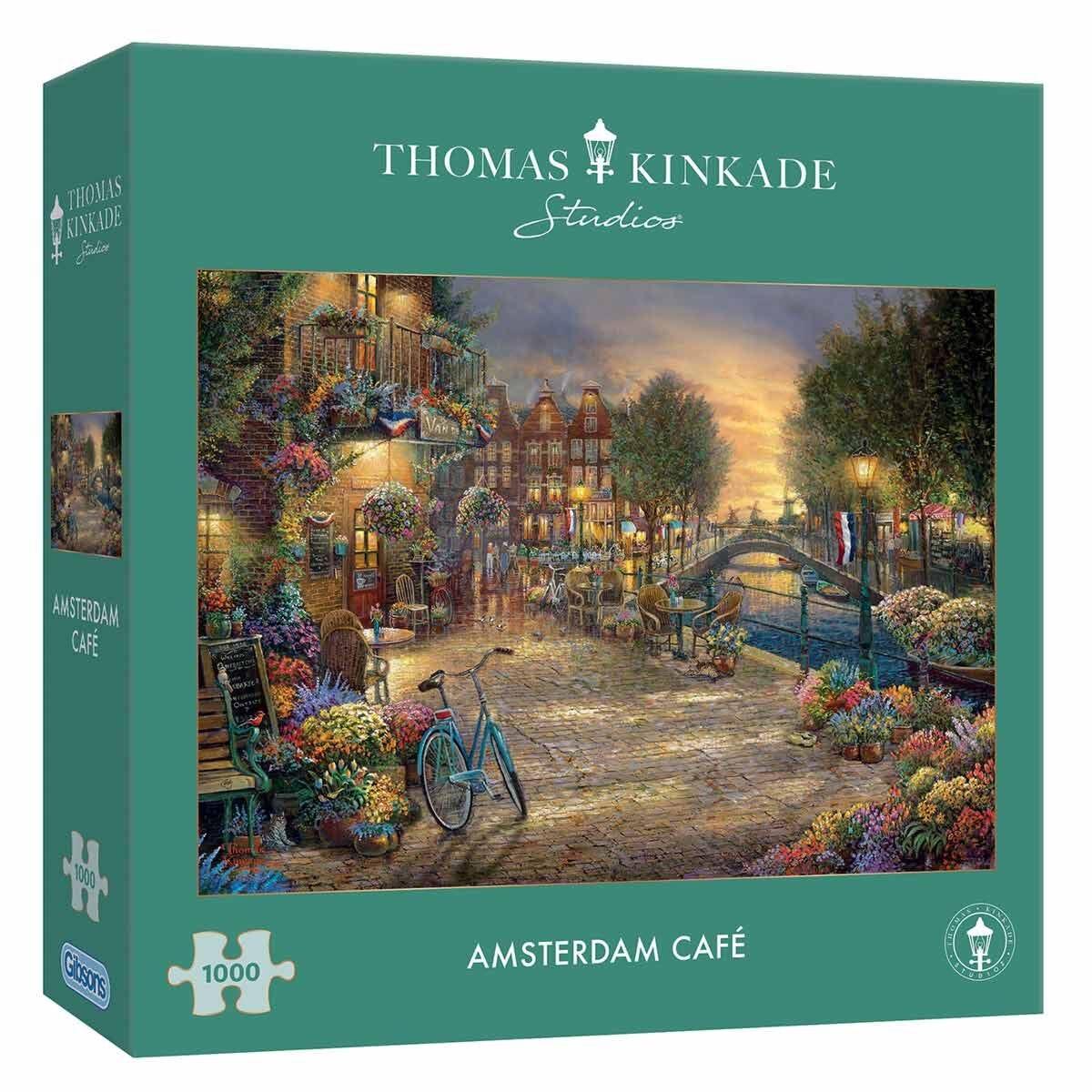 Gibsons Kinkade Edition Amsterdam Cafe 1000 Piece Jigsaw Puzzle