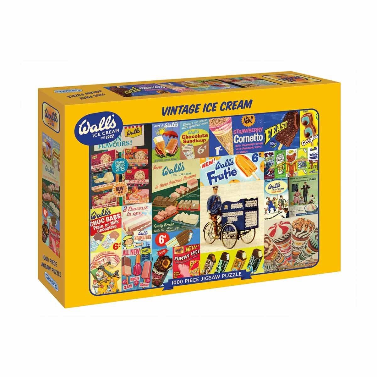 Gibsons Walls Vintage Ice Cream 1000 Piece Puzzle