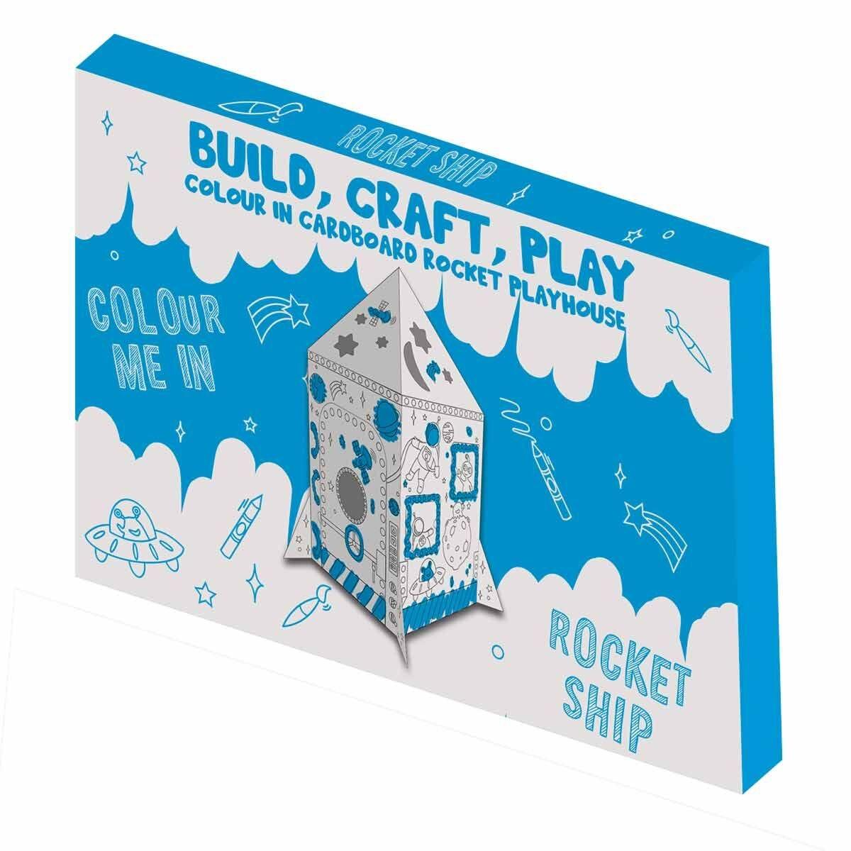 Colour Me In Cardboard Rocket
