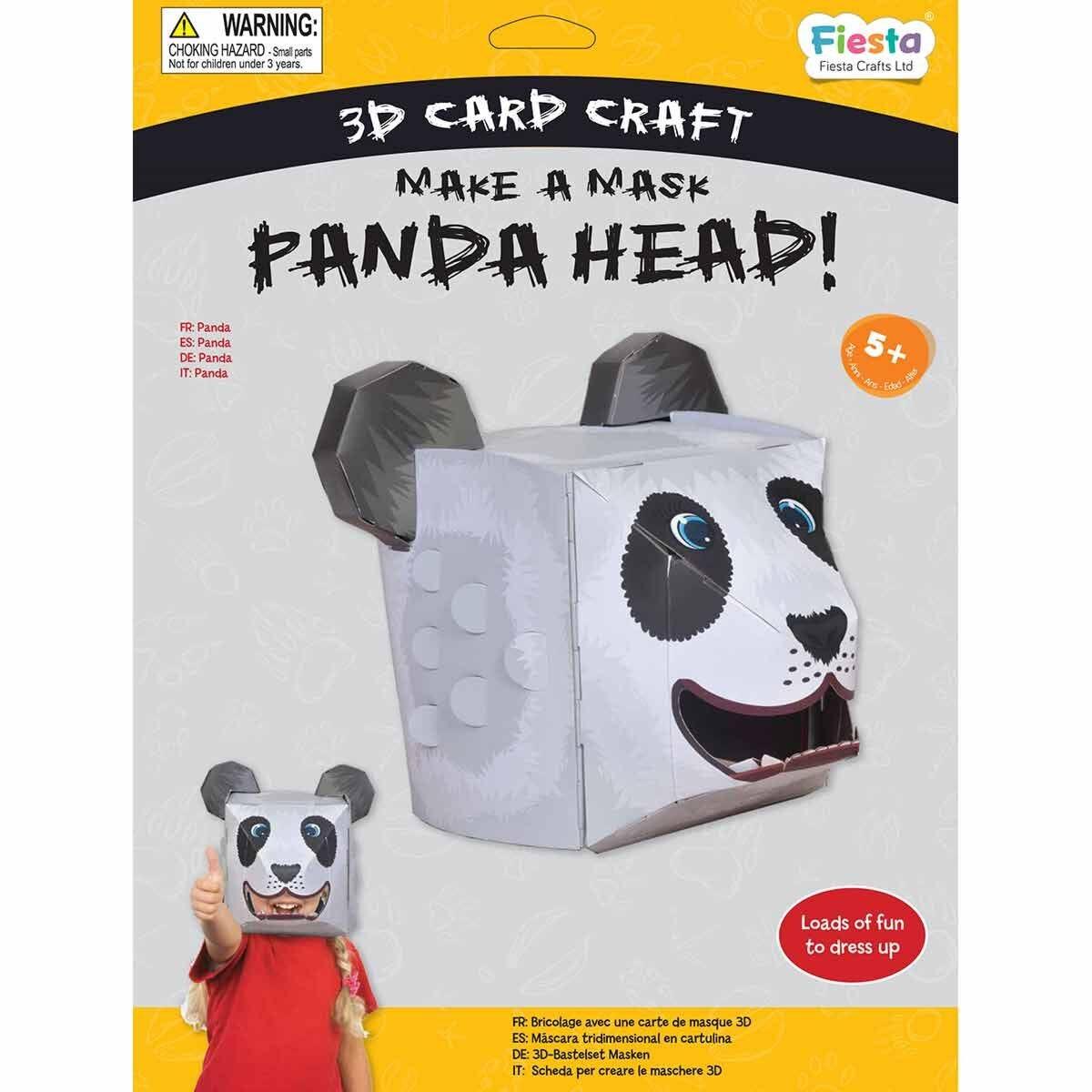 Panda 3D Mask Card Craft