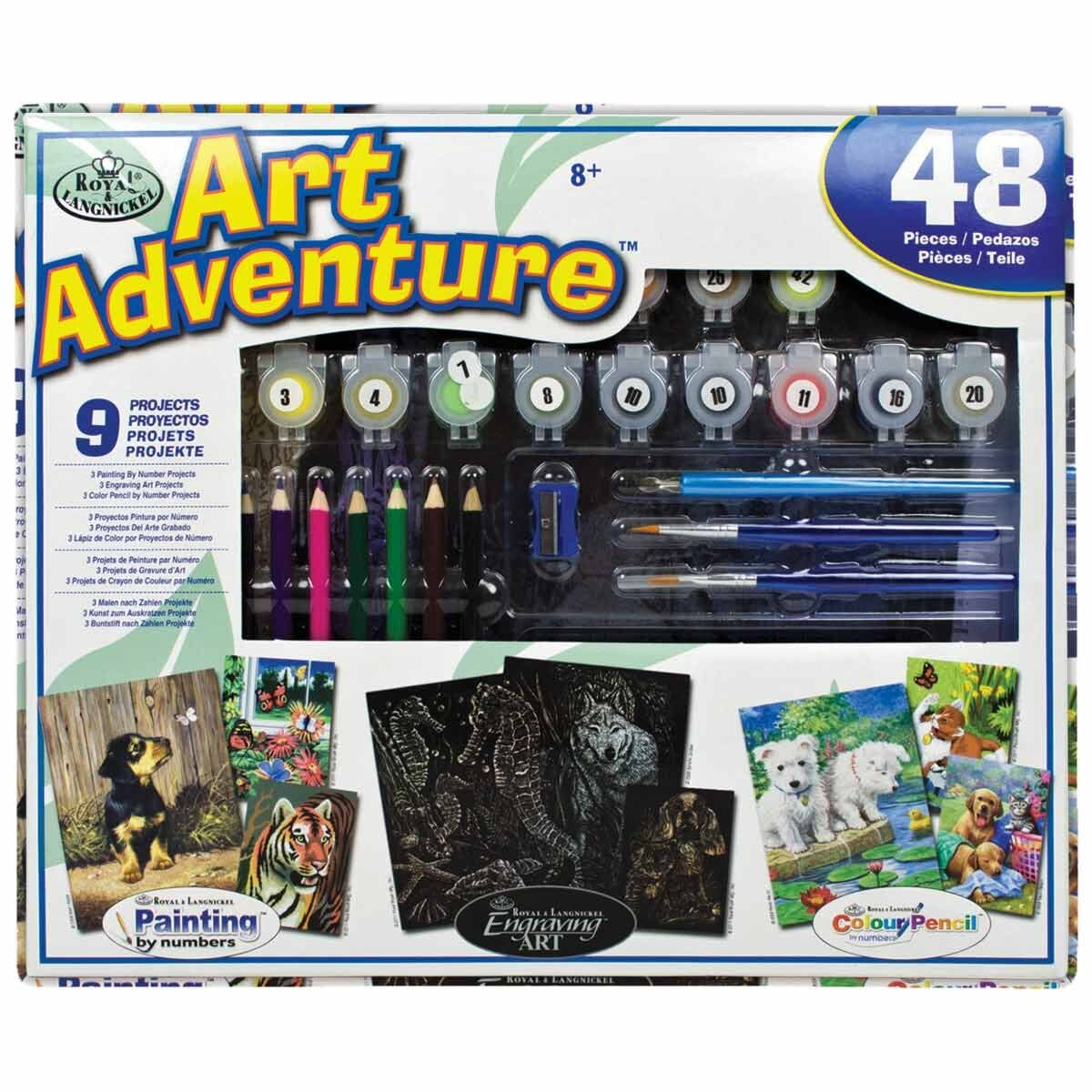 Royal and Langnickel Art Adventure Animals 9 Project Set