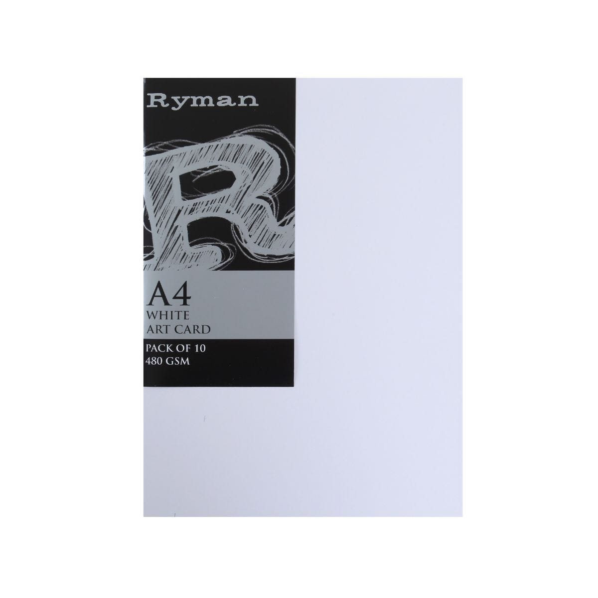 Ryman Art Card A4 480gsm Pk10