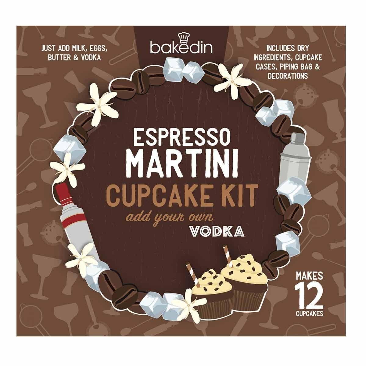 Bakedin Espresso Martini Cupcake Baking Kit