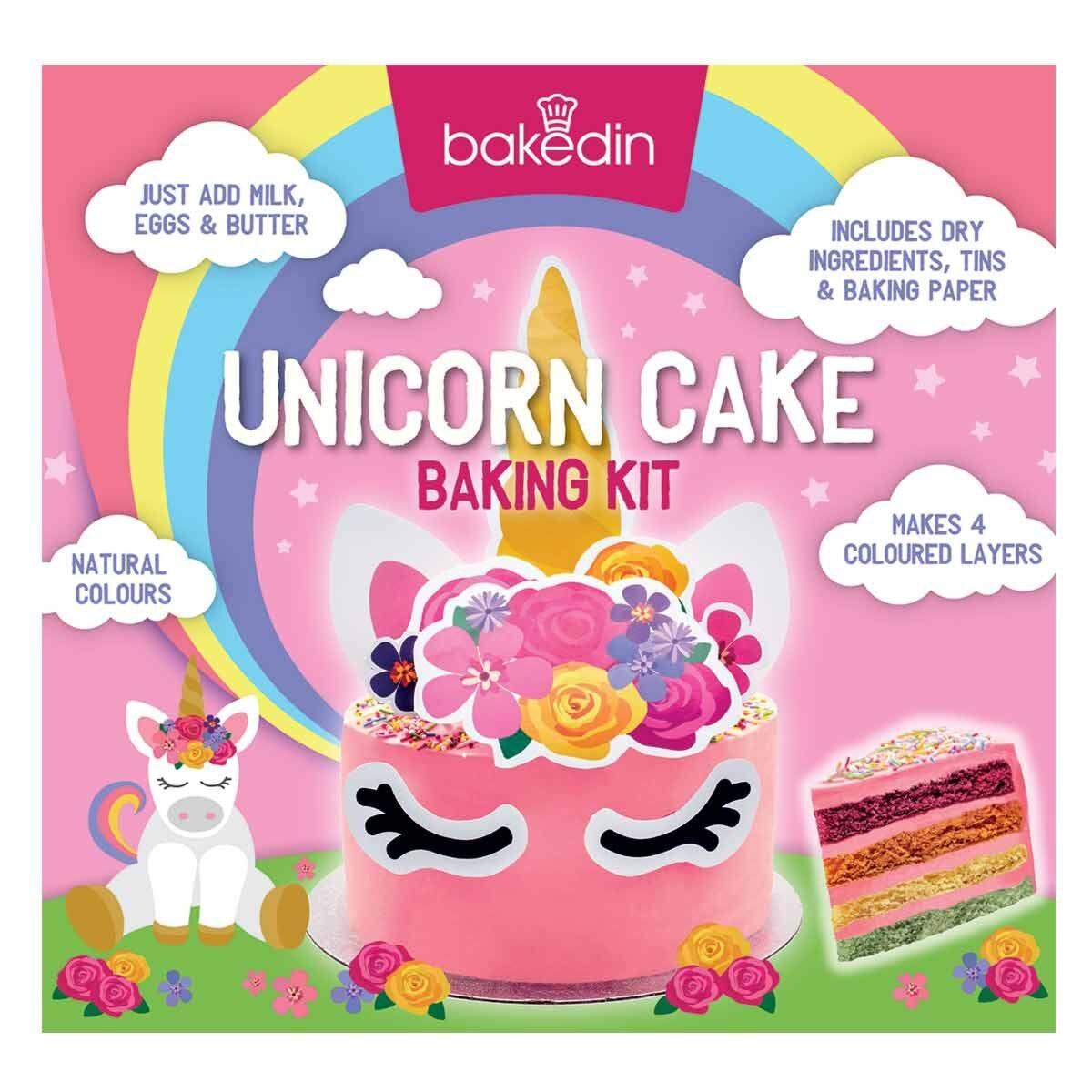 Bakedin Unicorn Cake Baking Kit