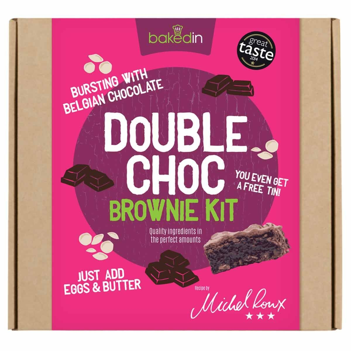 Bakedin Double Chocolate Brownie Baking Kit