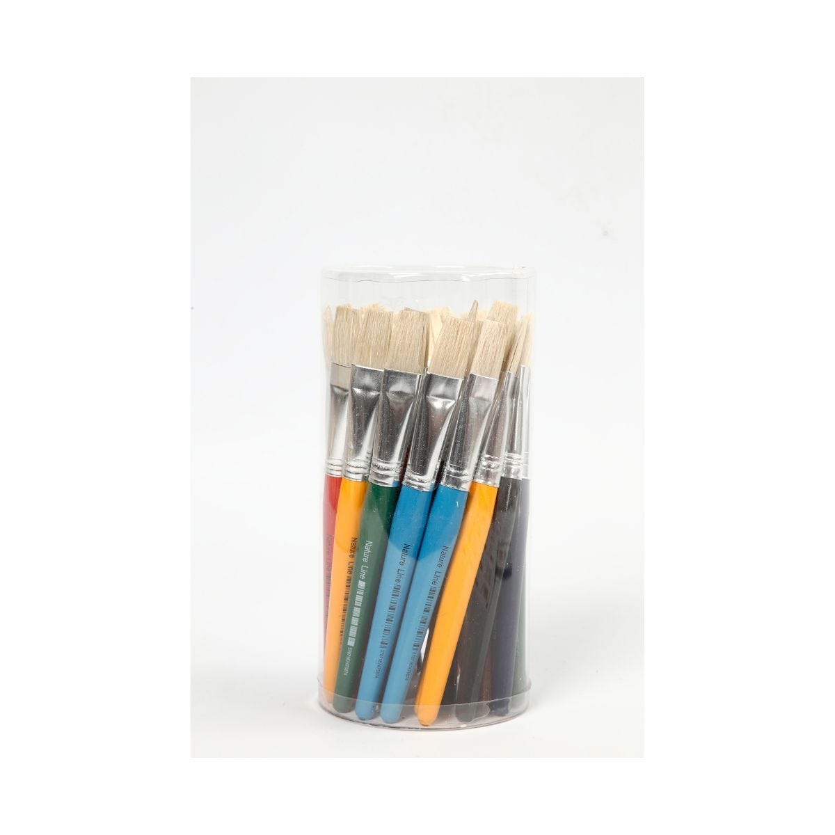 Kids Flat Paint Brushes 15mm Pack of 30