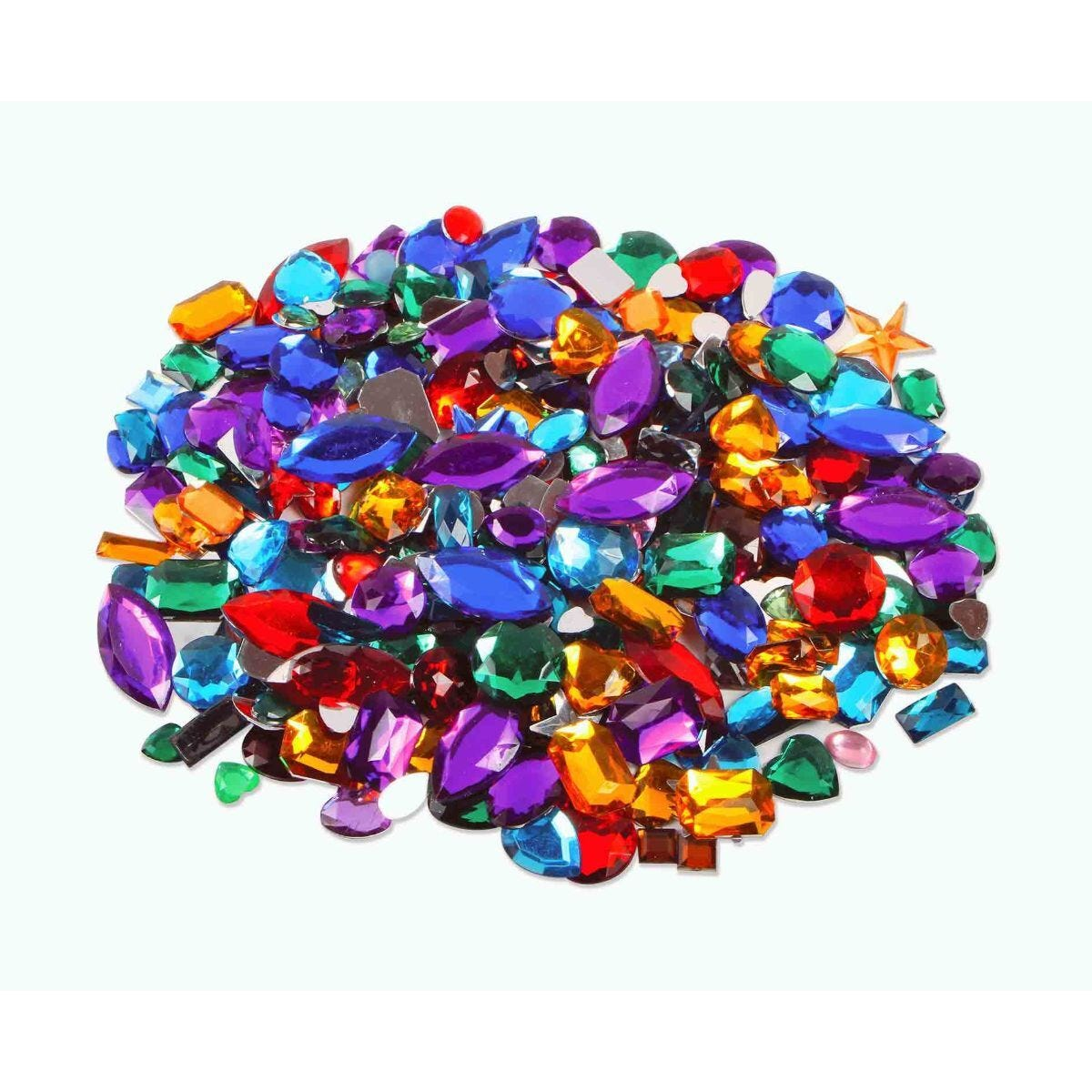 Creation Station Gemstones Assorted Shapes and Colours