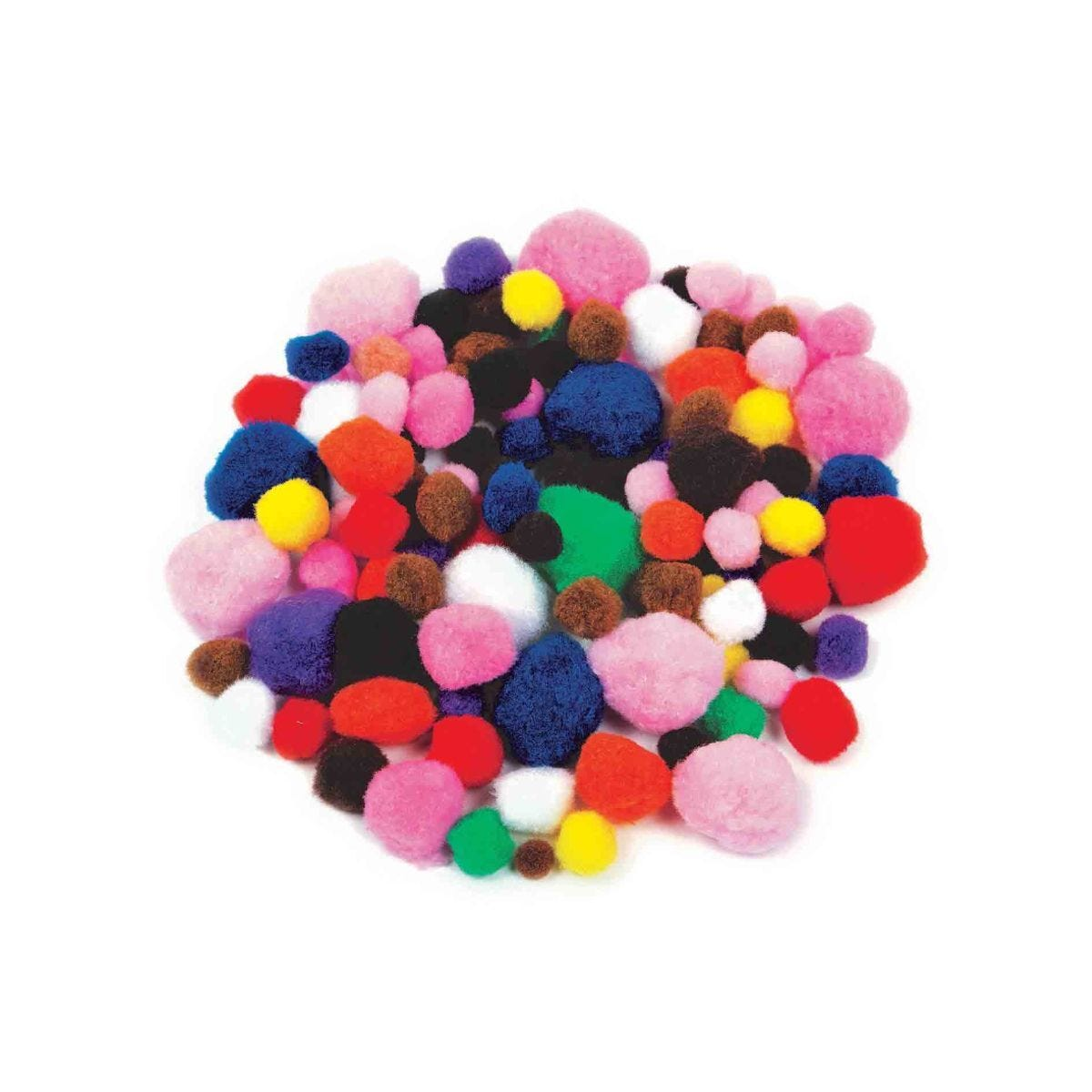 Creation Station Poms Value Pack Assorted Colours and Sizes