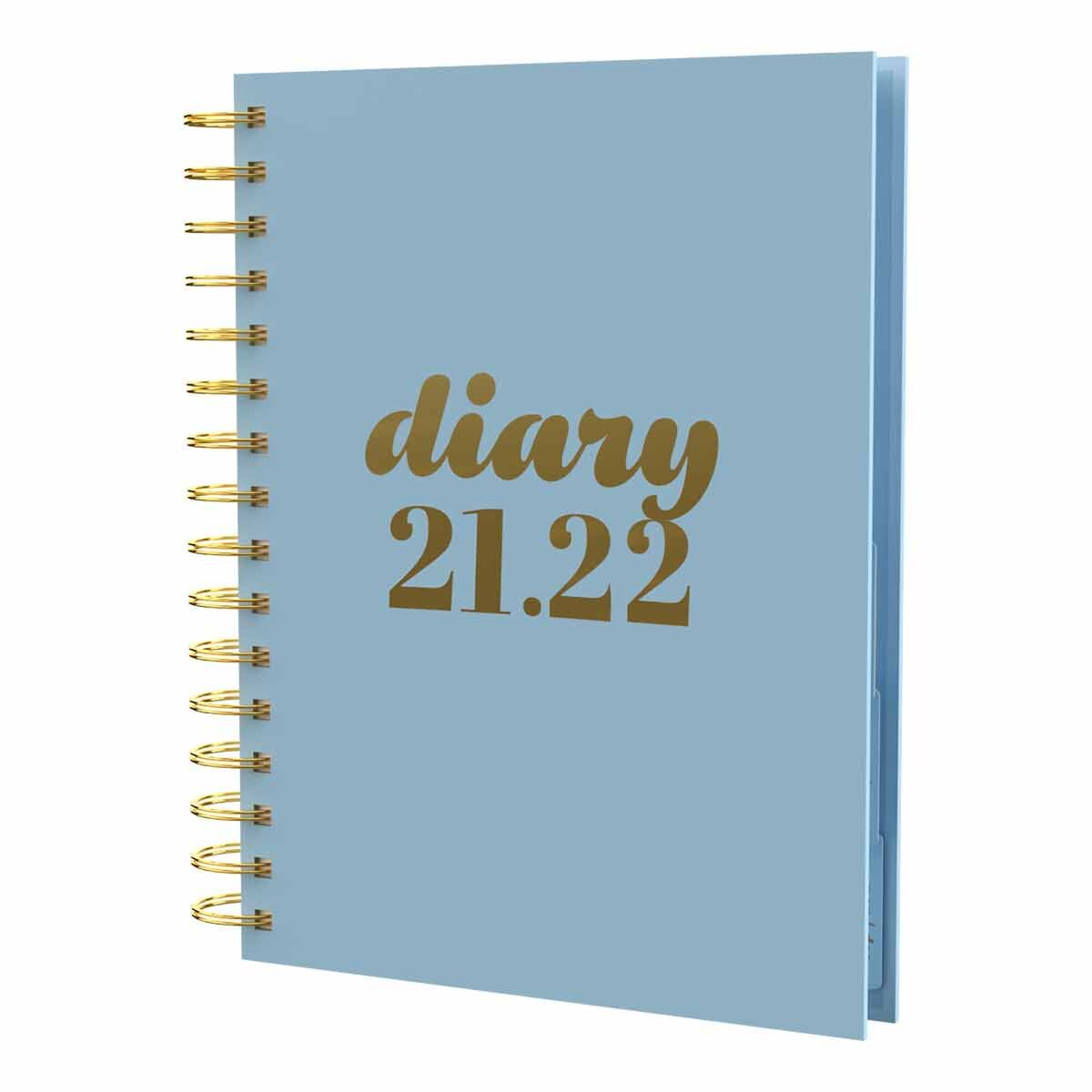 Collins Scandi Academic Diary Day to View A5 2021 Blue