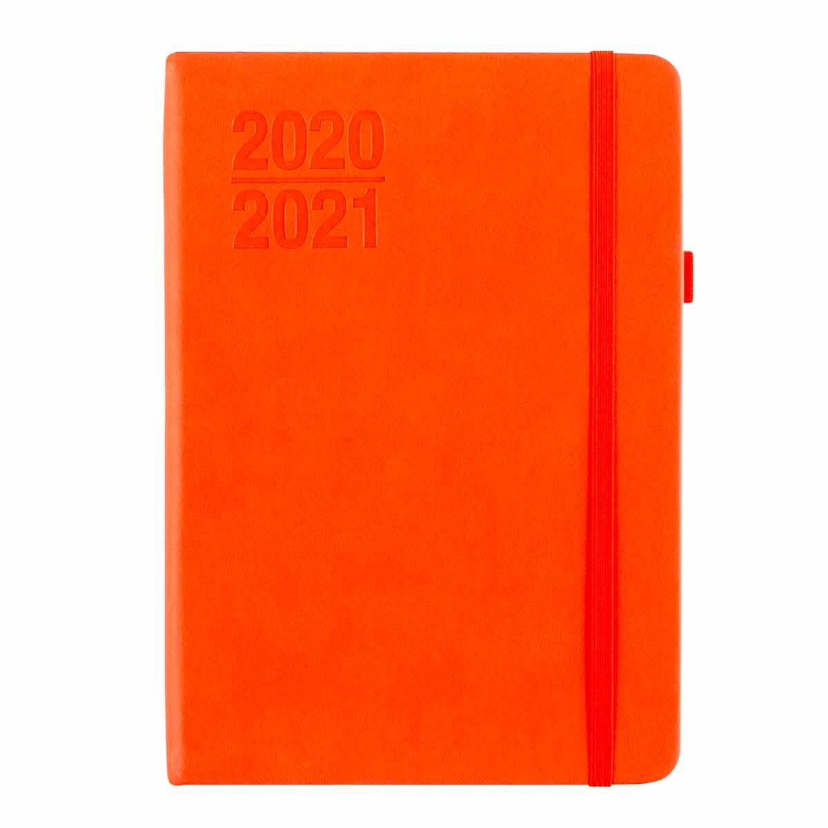 Ryman Soft Cover Diary Week to View A5 2020-2021 Coral