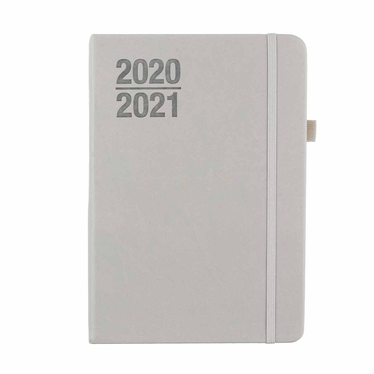 Ryman Soft Cover Diary Week to View A5 2020-2021 Grey