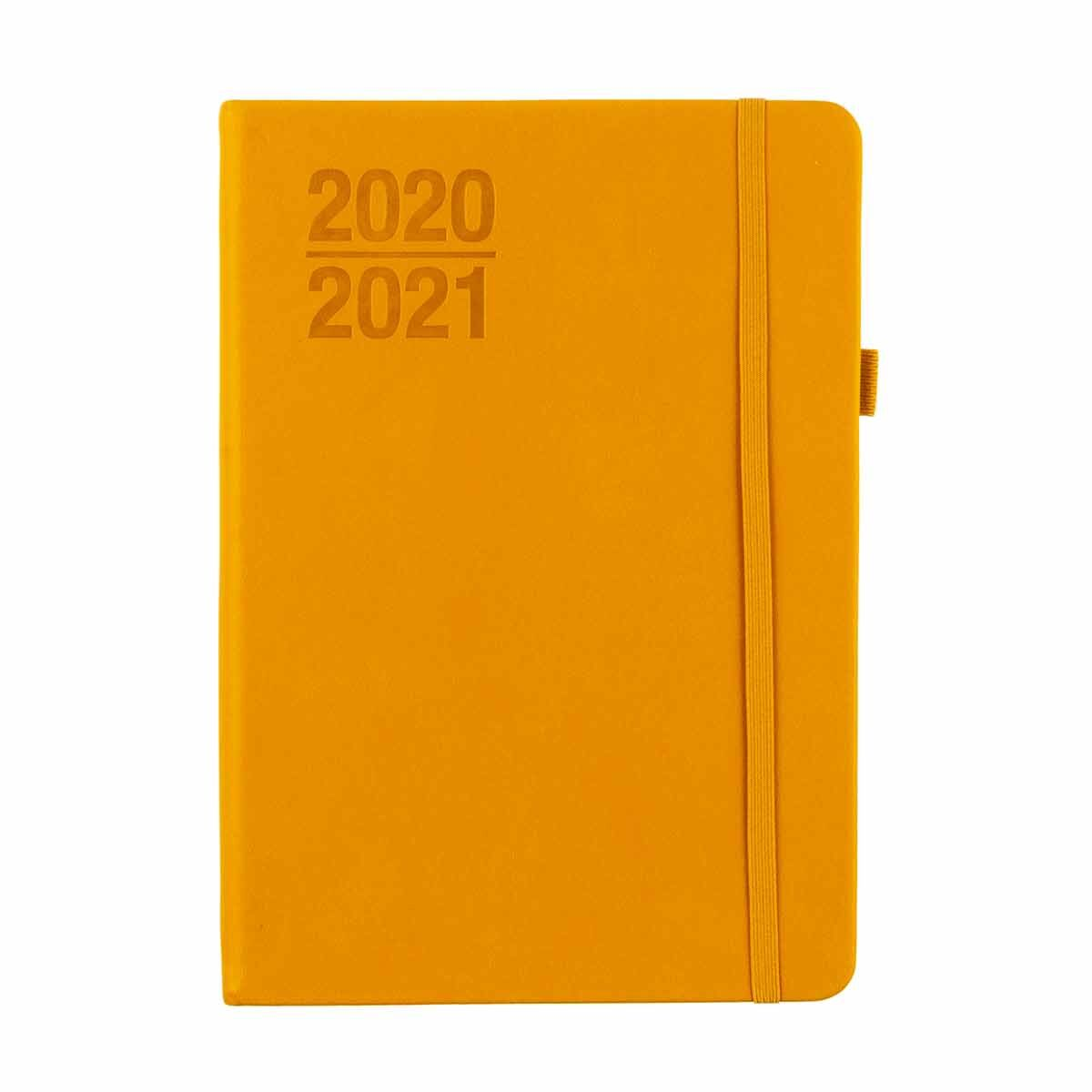 Ryman Soft Cover Diary Week to View A5 2020-2021 Ochre