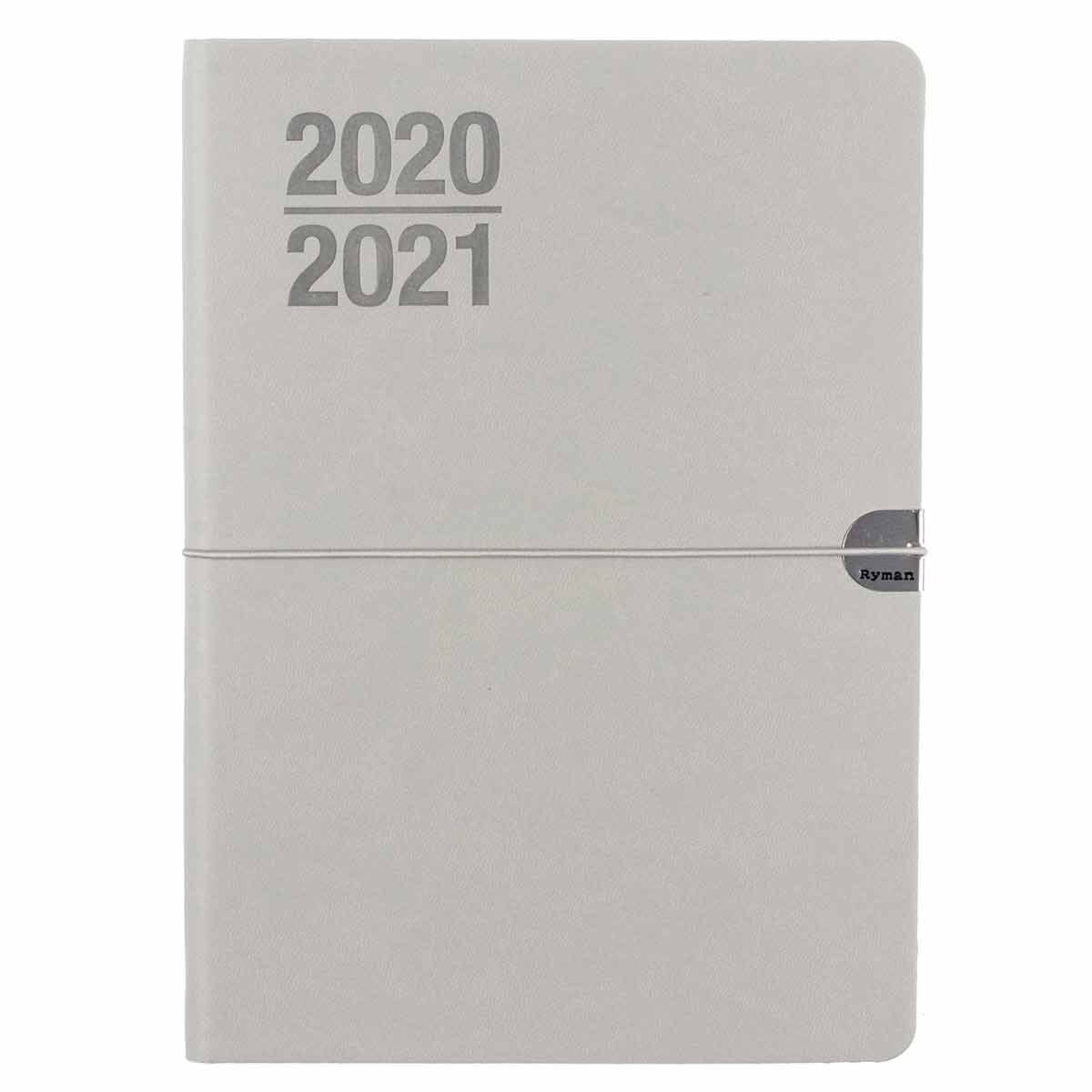 Ryman Soft Cover Flexi Diary Week to View A5 2020-2021 Grey