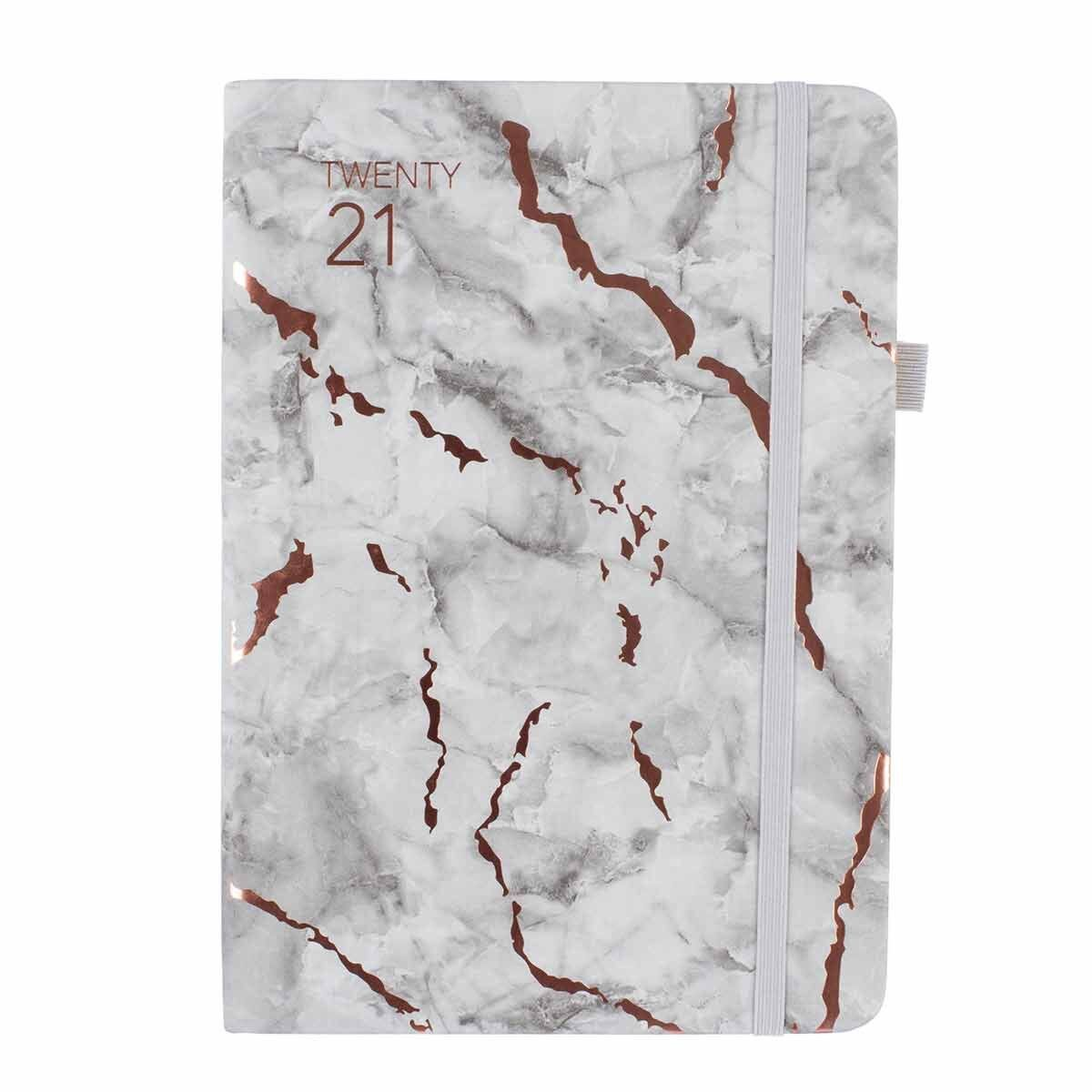 Ryman Marble Soft Cover Diary Week to View A5 2020-2021