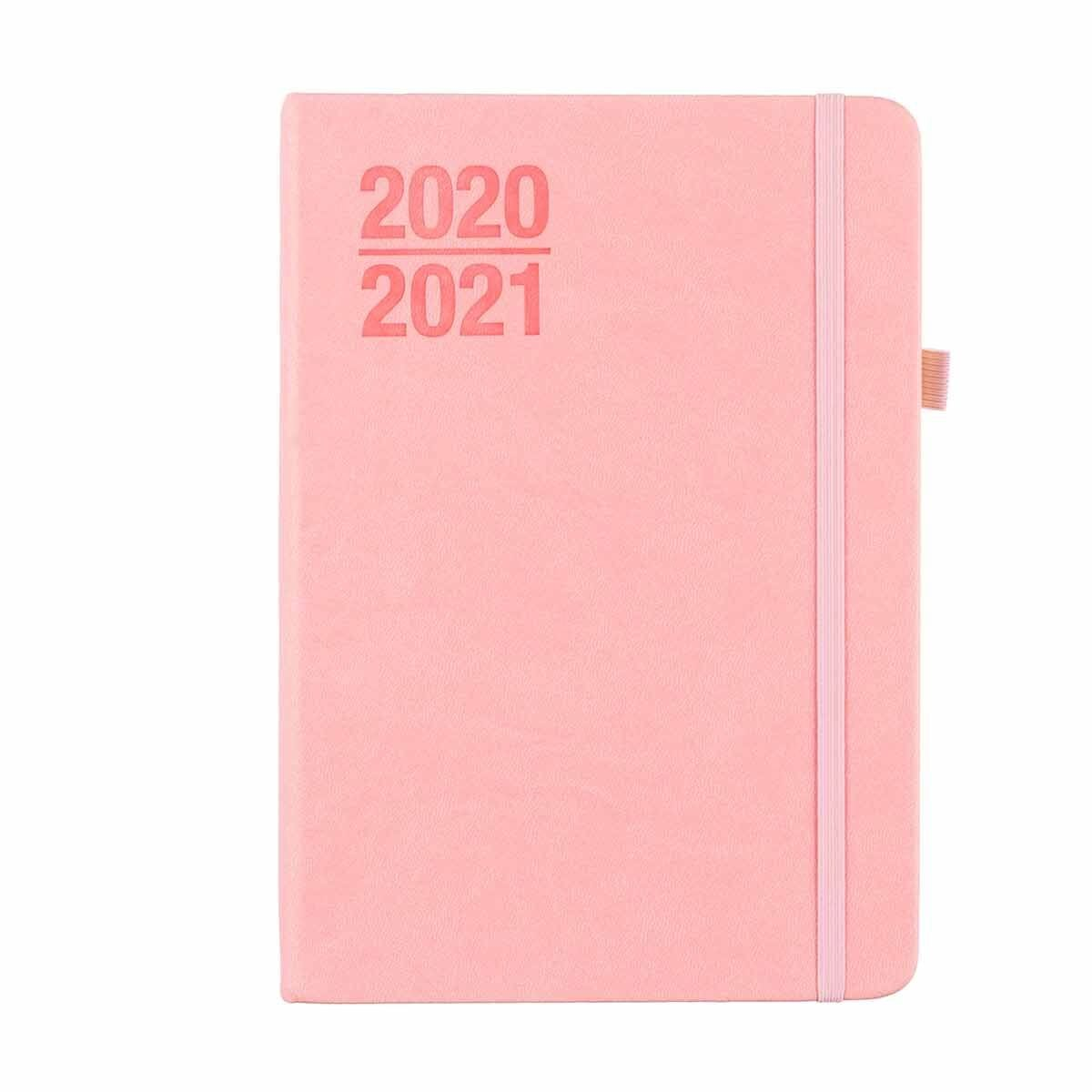 Ryman Soft Cover Diary Page a Day A5 2020-2021 Pink